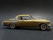 Danbury Mint 1957 Studebaker Golden Hawk Coupe 1:24 Scale Diecast Model Gold Car