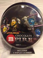 2005 M&M's Star Wars M-Pire CHEWBACA and MACE WINDU Figures w/Stands NIP