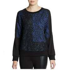 NWT W118 By Walter Baker Harvey Sequin Panel Sweatshirt, Medium