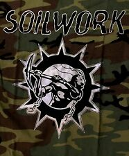 SOILWORK cd lgo SWEDISH METAL ATTACK Est 1996 Official Camouflage SHIRT LRG new