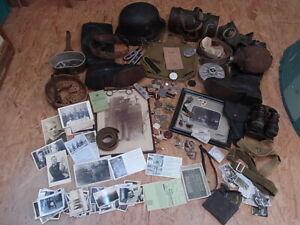 Riesiges Konvolut Bastelkonvolut Ausrüstung Militaria Reenactment Wehrmacht etc.