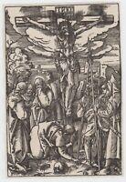 Holzschnitt  woodcut 18. Jhdt Christus am Kreuz nach Albrecht Dürer Crucifixion