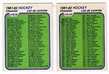 1X MARKED CHECKLIST 1981 82 OPC #381 EXMT O Pee Chee Lots Available