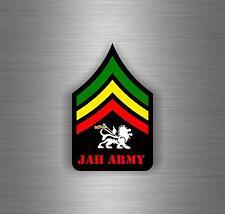 Sticker car decal rasta reggae JAH macbook lion of judah one love rastafarai r17