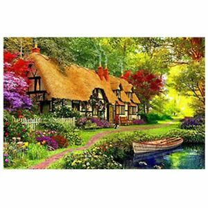 5D Diamond Full Drill Painting Cross Decor By Numbers 20*25cm 6238 House