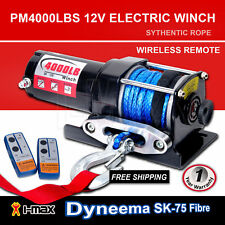 I-Max 12V Wireless 4000LBS/1800KGS Electric Rope Winch ATV 4WD 4x4 Boat Truck