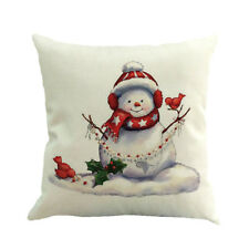 Christmas Square Cushion Cover Waist Throw Pillow Case Home Room Sofa Decor New