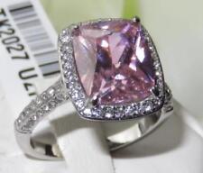 Bisutería de color principal rosa de acero inoxidable circonita