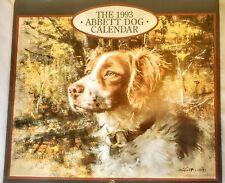Vintage 1993 Robert K Abbett Hunting Dog Calendar W/ Stamp
