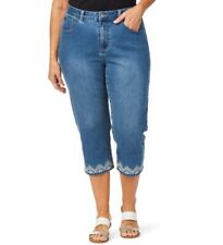 beme Crop Denim Jean With Embroidery Size 26 ( Post)