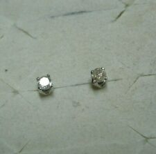 Diamond Stud Earrings  2 diamonds .20tcw 10kSOLID GOLD  MSRP$877.00