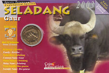 The Endangered Species - Gaur Education Coin Card.- 2003