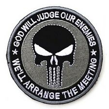 GOD WILL JUDGE OUR ENEMIES PUNISHER INFIDEL MORALE Hook & Loop PATCH