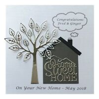 Personalised Card New Home House Handmade