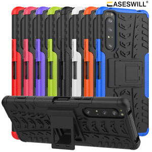 For Sony Xperia 5 1 10 II L4 L3 L2 XA2 XZ3 Shockproof Armor Kickstand Case Cover