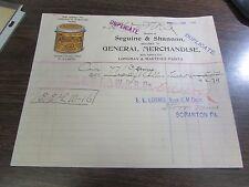 SEGUINE & SHANNON - LONGMAN & MARTINEZ PAINTS - CRESCO PA - 1899
