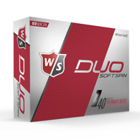WILSON STAFF DUO SOFT SPIN - WHITE - 1 DZ GOLF BALLS - NEW!