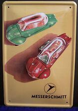 Messerschmitt 4 5/16in x 3 1/8in Tin Sign Bubble Car