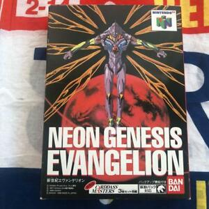Neon Genesis EVANGELION Nintendo 64 Game Software Bandai Working with 3 cards /8