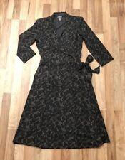EUC NWOT! J. Jill Women's Print Wrap Dress ¾ Sleeve V-neck Career XS Extra Small