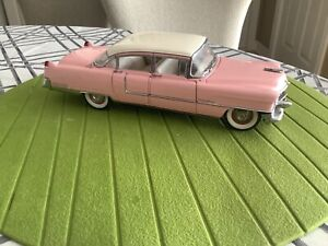 Franklin Mint Elvis Presley's Pink 1955 Cadillac Fleetwood 1:24 Scale Diecast