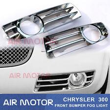 FRONT BUMPER FOG LIGHT LAMP COVER FOR CHRYSLER 300 CHROME TRIM 2005-2010