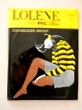 Lolene Hosiery/ Nylons/Stockings-10- Seamless Mesh- Nassau- 2 Pair