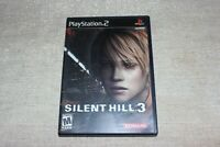 Silent Hill 3 (Sony PlayStation 2, 2003) Complete w/Soundtrack Disc - TESTED