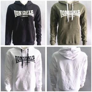 Lonsdale Womens London Logo pullover Hoodie Fleece Hooded Sweatshirt Top SZ 8-18