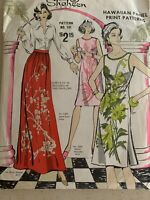 Alfred Shaheen Hawaiiam Panel Print Sewing Patterns #101 Dress,Skirt Size 6-18
