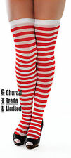 Christmas Striped Stocking Red and White  Xmas Elf Outfit Fancy Dress Costume