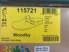 Birkenstock Birki's Woodby Wool Germany rare EUR Sz 44 US Sz 11 Mens New In Box