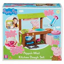 Peppa's Mud Kitchen Play Set Toy - Peppa Pig Playset with 2 Tubs of Dough - New