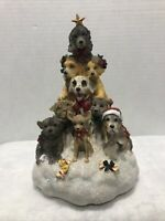 "San Francisco Music Box Co. Christmas Dog Tree ""We Wish You a Merry"""