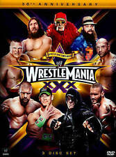 WWE: Wrestlemania XXX (DVD, 2014, 3-Disc Set) Missing Booklet