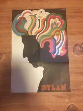 Original Vintage 1966 Bob Dylan LP Poster insert by Milton Glaser ~ Near Mint