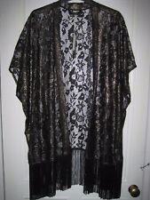 Moda by George Black and Gold Lacy Slip On Size 14-16 BNWT
