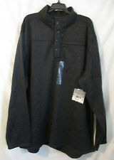 XXXLT NORTH CREST Outdoor Big & Tall Pullover Pocket Charcoal Heather button New
