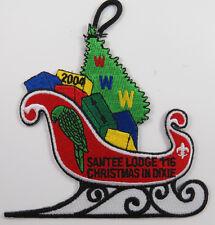 "OA Lodge 116 Santee X6 Sleigh; BLK ""2004, Christmas In Dixie"" [D1708]"