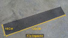 UNIVERSAL 3D HONEYCOMB ABS PLASTIC BLACK MESH GRILL 120 X 19 CM