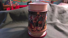 German Style 1/2L Beer Stein Mug with Scene duplicated in the bottom