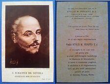 Santino Holy Card 1961 - San Ignazio di Loyola
