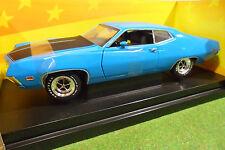 FORD TORINO COBRA bleu 1971 au 1/18 AMERICAN MUSCLE ERTL 36512 voiture miniature
