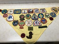 Boy Scout Troop Neckerchief Full of Patches #2 - Military Bases