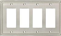 Franklin Brass W35069-C Wall Plate Beaded Quadruple Rocker / GFI - Nickel