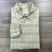 Ermenegildo Zegna Men's Long Sleeve Button Front Shirt Check Size XXL *Read Desc