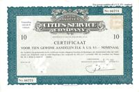 Cities Service Company > 1966 Dover, Delaware old stock certificate share