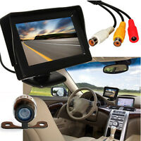 4.3'' TFT LCD Car Rear View Backup Monitor Wireless Parking Night Vision Camera
