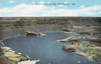 Postcard Dry Falls and Falls Lake Washington