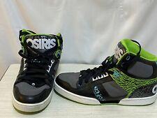 Osiris NYC 83  Mens Skate Shoes Black Green Blue Sea RARE Sz 10.5 High top